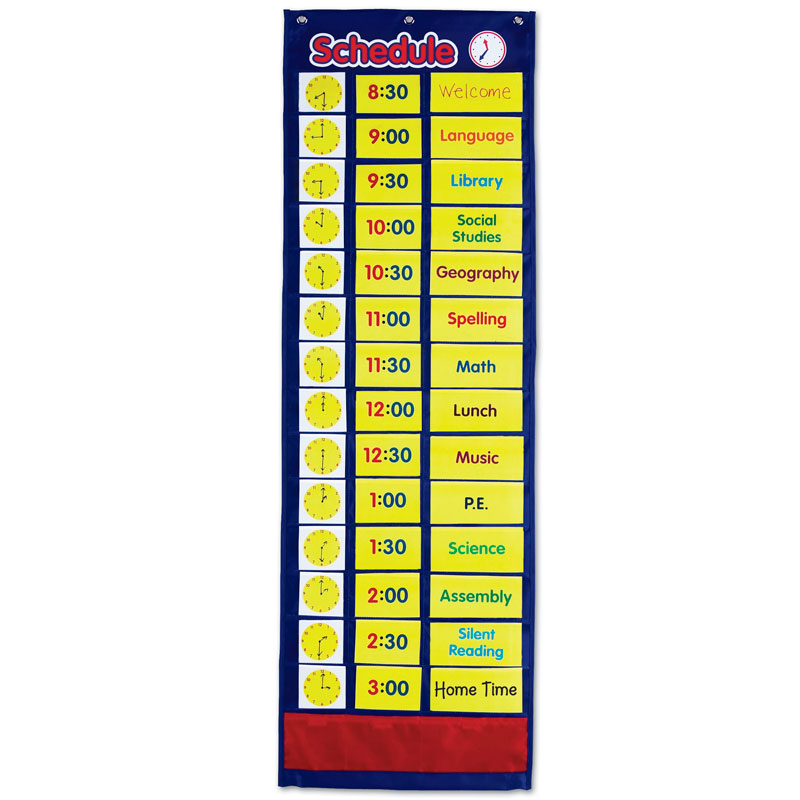 Daily Schedule Pocket Chart - by Learning Resources - LER2504