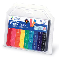 Fraction Tower Cubes Fractions Only - 51 Piece Set - by Learning Resources