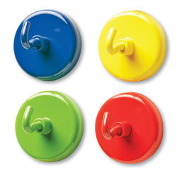 Super Strong Coloured Magnetic Hooks - Set of 4 - by Learning Resources