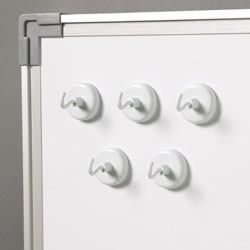 Original White Magnetic Hooks - Set of 5 - by Learning Resources