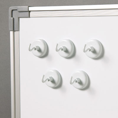 Original White Magnetic Hooks - Set of 5 - by Learning Resources - LER2698