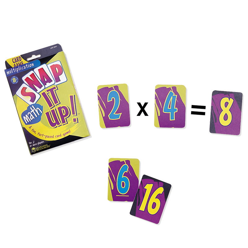 Snap it Up! Card Games Multiplication & Division - by Learning Resources - LER3041