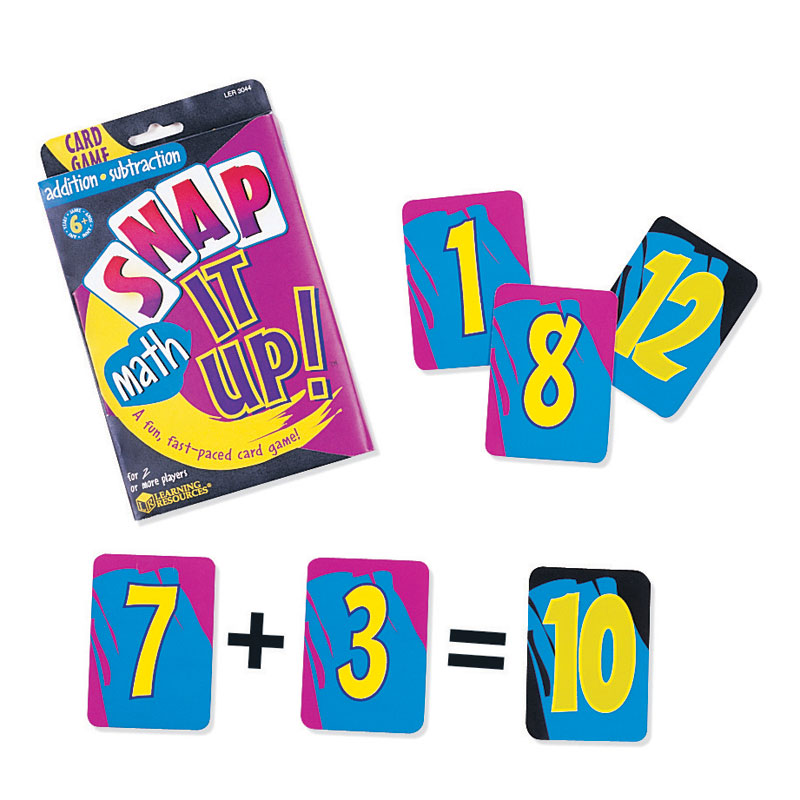 Snap it Up! Card Games Addition & Subtraction - by Learning Resources - LER3044