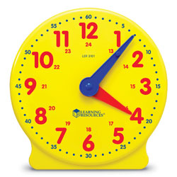 Big Time 24-Hour Geared Student Clock - by Learning Resources