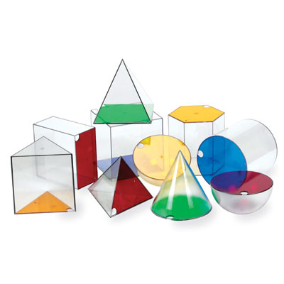Giant GeoSolids - Set of 10 - by Learning Resources - LER3208