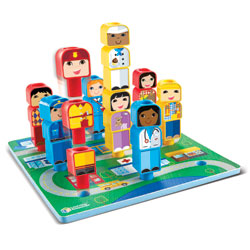 *Box Damaged* Peg Friends Around the Town - by Learning Resources