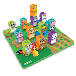 Peg Friends Stacking Farm - by Learning Resources