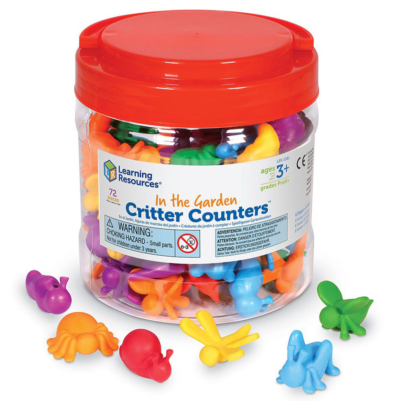 In the Garden Critter Counters - Set of 72 - by Learning Resources - LER3381