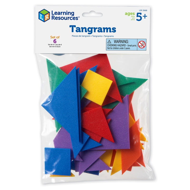 Six-Colour Tangrams - by Learning Resources - LER3668