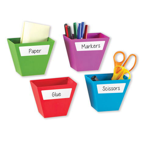 Magnetic Create-A-Space Storage Bins - Set of 4 - by Learning Resources - LER3807