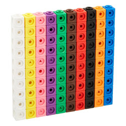 MathLink Cubes - Set of 100 - by Learning Resources