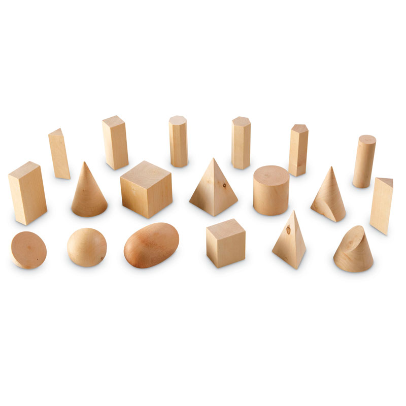 Wooden Geometric Solids - Set of 19 - by Learning Resources - LER4298