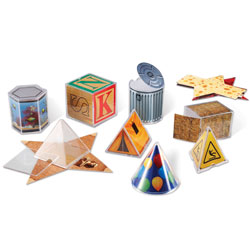 Real World Folding Geometric Shapes - Set of 32 - by Learning Resources