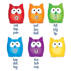Magnetic Vowel Owls - Set of 6 - by Learning Resources