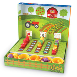 Veggie Farm Sorting Set - includes 46 pieces - by Learning Resources