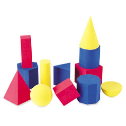Soft Foam Small Geometric Shapes - Set of 12 - by Learning Resources
