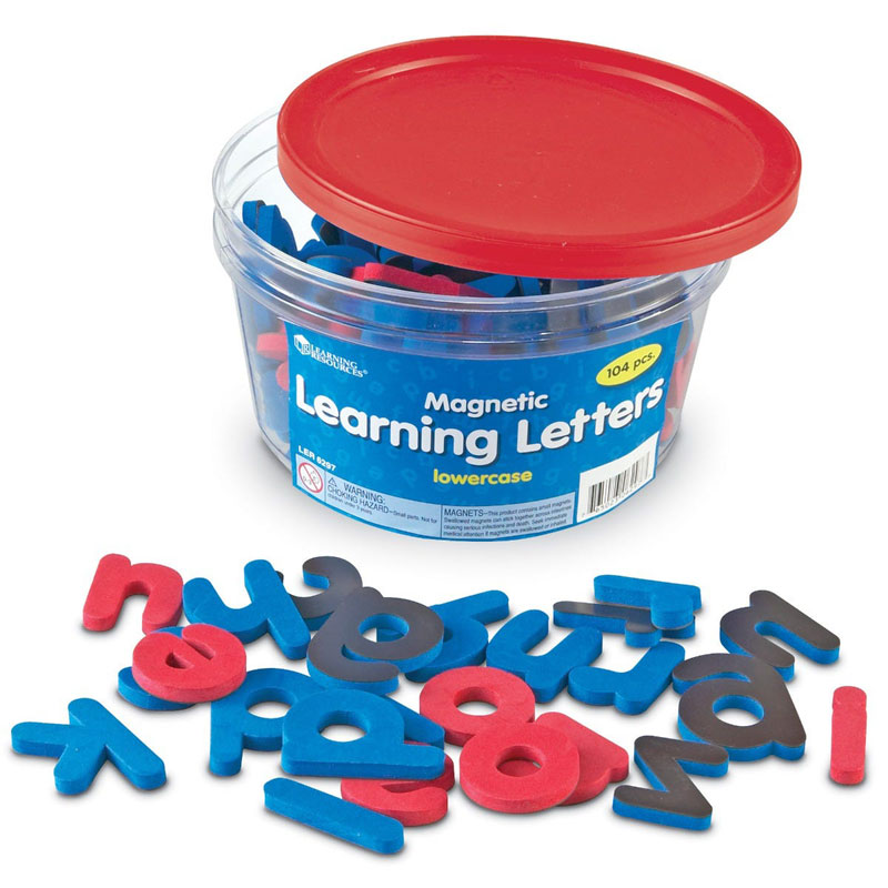 Soft Foam Magnetic Lowercase Learning Letters - Set of 104 - by Learning Resources - LER6297