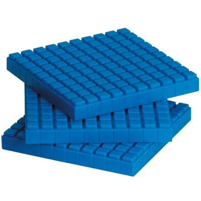 Interlocking Base 10 Plastic Flats - Set of 10 - by Learning Resources - LER6354