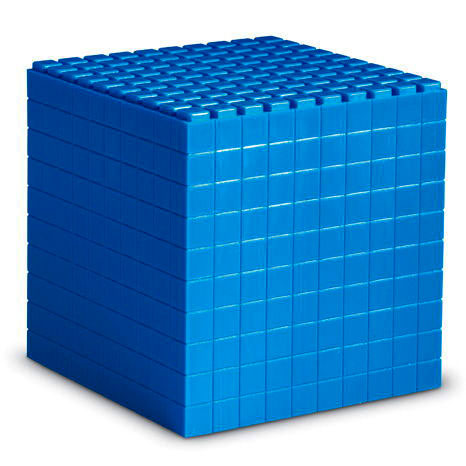 Interlocking Base 10 Plastic Thousand Cube  - by Learning Resources - LER6355