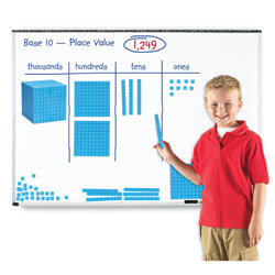 Magnetic Base 10 Demonstration Set - Set of 131 Pieces - by Learning Resources