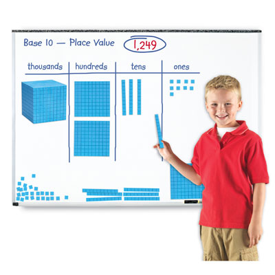 Magnetic Base 10 Demonstration Set - Set of 131 Pieces - by Learning Resources - LER6366