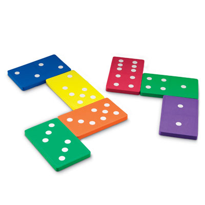 Jumbo Soft Foam Dominoes - Set of 28 - by Learning Resources - LER6380