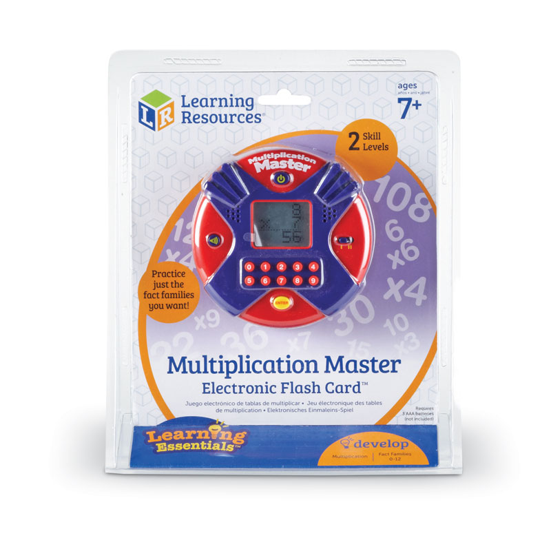 Multiplication Master Electronic Flash Card - by Learning Resources - LER6967