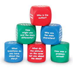 Reading Comprehension Cubes - Set of 6 - by Learning Resources