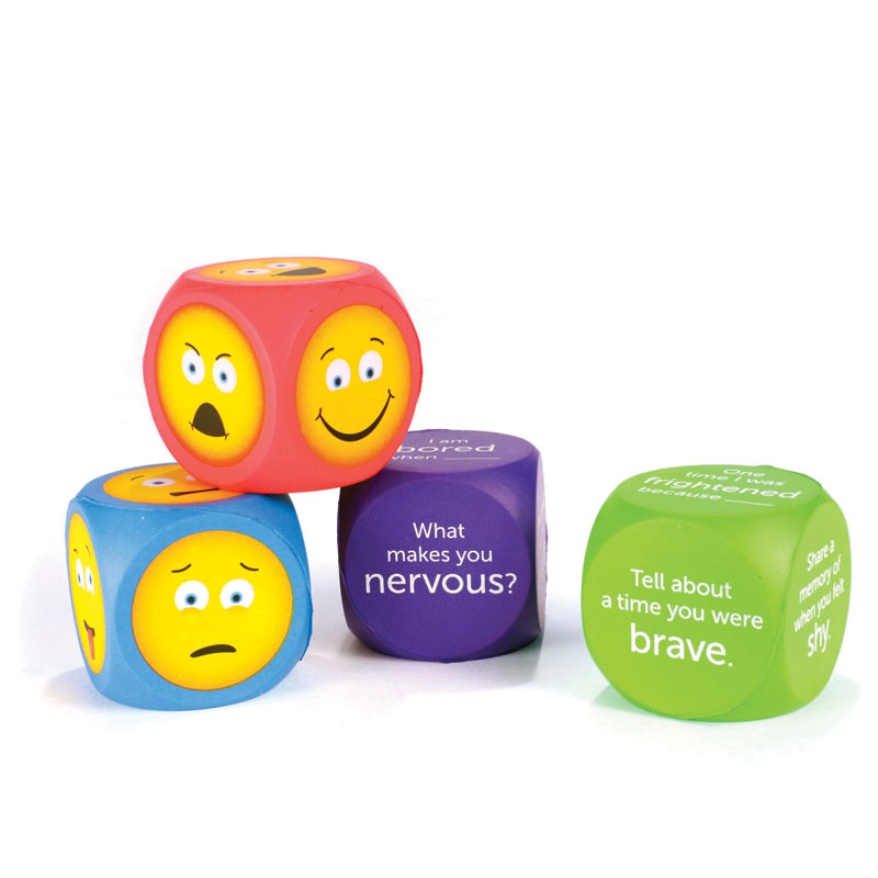 Soft Foam Emoji Cubes - Set of 4 - by Learning Resources - LER7289