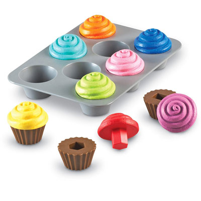 Smart Snacks Shape Sorting Cupcakes - Set of 17 Pieces - by Learning Resources - LER7347