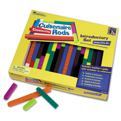 Interlocking Plastic Cuisenaire Rods Introductory Set - (in a tray) - by Learning Resources - LER7480