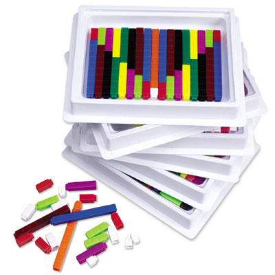 Interlocking Plastic Cuisenaire Rods Class Multi-Pack - (in six trays) - by Learning Resources - LER7481