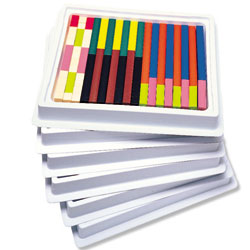 Plastic Cuisenaire Rods Class Multi-Pack - (in six trays) - by Learning Resources