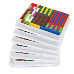 Wooden Cuisenaire Rods Class Multi-Pack - (in six trays) - by Learning Resources