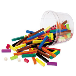 Cuisenaire Rods Plastic Rods Small Group Sets (in a tub) - by Learning Resources