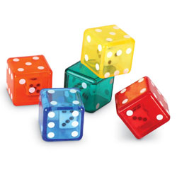 Dice in Dice - Set of 72 - by Learning Resources