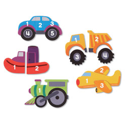 Magnetic Counting Vehicle Puzzles - by Learning Resources