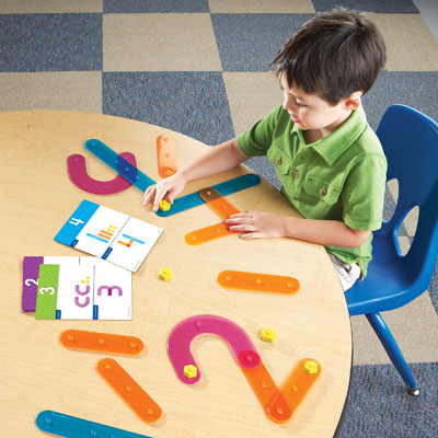 Number Construction Activity Set - Set of 55 Pieces - by Learning Resources - LER8550