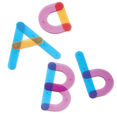Letter Construction Activity Set - Set of 73 Pieces - by Learning Resources - LER8555
