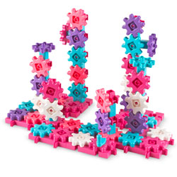 Gears Gears Gears! Deluxe Building Set in Pink - 100 Pieces - by Learning Resources