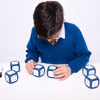 Large Write/Dry Wipe Blue Dice - Set of 6 - CD50474