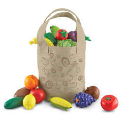 New Sprouts Fresh Picked Fruit & Veggie Tote - by Learning Resources