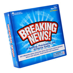 Breaking News! Spelling, Punctuation and Grammar Game - by Learning Resources
