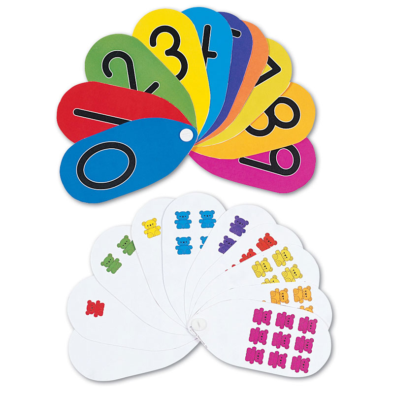 Three Bear Family Number Fans - Set of 10 - by Learning Resources - LSP0774-UK