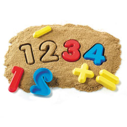 Numbers & Operations Sand Moulds - Set of 26 - by Learning Resources