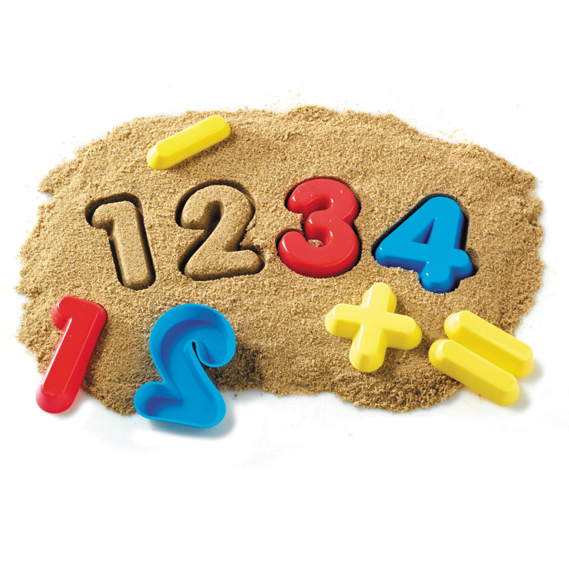 Numbers & Operations Sand Moulds - Set of 26 - by Learning Resources - LSP1452-UKM