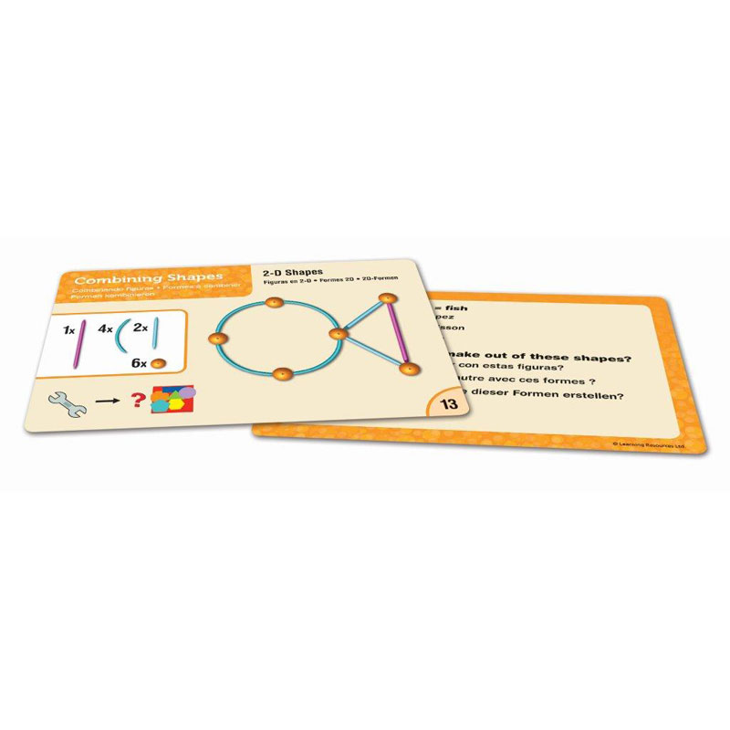 Geometric Shape Activity Cards - Set of 30 - by Learning Resources - LSP1780-UK