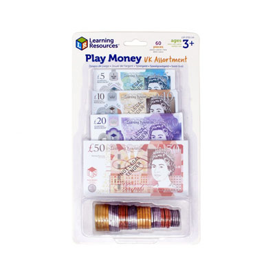 UK Play Money Assortment - Set of 60 Pieces - by Learning Resources - LSP2725-UK