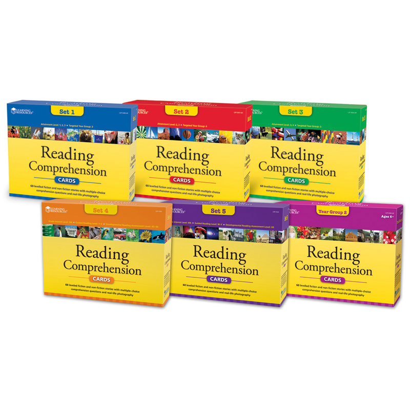 Reading Comprehension Card Set of 6 - by Learning Resources - LSP5500-6UK