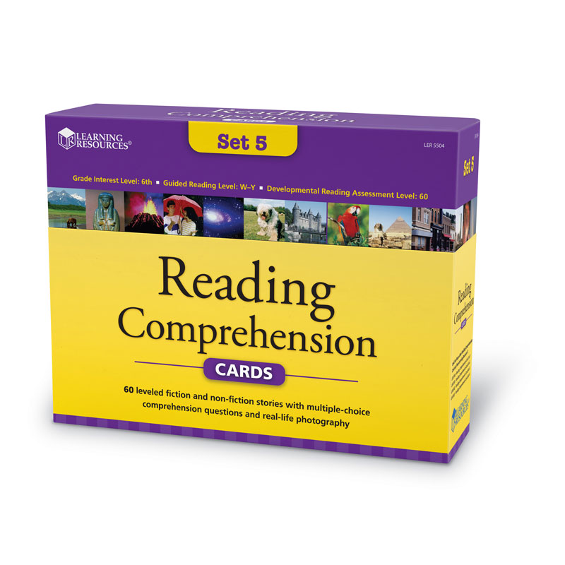 Reading Comprehension Card Set - Year Group 7 - by Learning Resources - LSP5504-UK